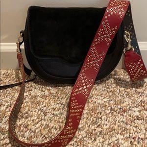 Rebecca Minkoff black leather/suede crossbody bag